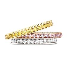 Brides: Women's Wedding Rings with Diamonds Who said white diamonds were only a girl's  best friend!