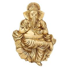 Hindu God Decor Statue Of God Ganesha Religious Decals Brass Figurines 9.5 inch ShalinIndia http://www.amazon.in/dp/B00YN4GTQ8/ref=cm_sw_r_pi_dp_I6iXvb1DYZYR5