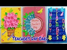 Beautiful Teacher's Day Card Easy/Happy Teachers Day Card/Paper Art/DIY/Handmade Card/शिक्षक दिवस - YouTube Greeting Cards For Teachers, Teachers Day Greetings, Teacher Cards, Vj Art, Beautiful Teacher, Teachers' Day, Paper Flowers, Paper Art, Card Making