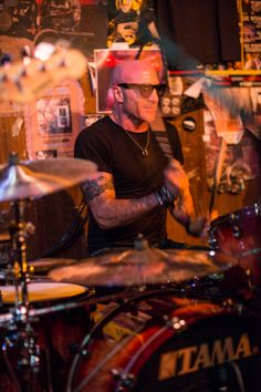 Kenny Aronoff and Friends Baked Potato drummer drumming playing tattoo 2014-01-18 © Brandon Peters Photography 2014