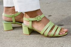 Maryam Nassir Zadeh - Palma Low Sandal (Wasabi Calf)