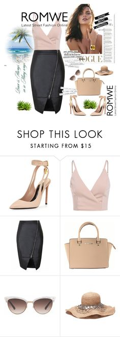 """""""ROMWE"""" by begajeta2309 ❤ liked on Polyvore featuring Tom Ford, Michael Kors, Gucci and Kate Spade"""