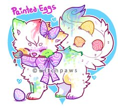 Painted Eggs Sushi Dog Auction - CLOSED by witchpaws on deviantART
