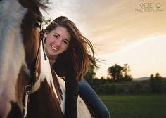 Senior Portrait II Class of 2014 II Horses II Sunsets II Summer II Kacie Q Photography II www.kacieqphotography.com