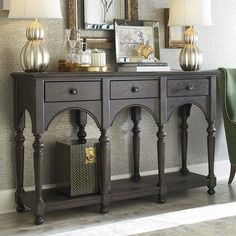 Sideboard - Love this color. Graphite and French Linen Annie Sloan Chalk paint.