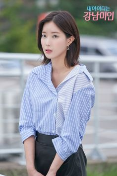 My ID is Gangnam Beauty-Korean Drama-Subtitle Indonesia- Korean Actresses, Korean Actors, Kpop Outfits, Cute Outfits, Korean Outfits, K Drama, Girl Drama, Fashion Beauty, Girl Fashion