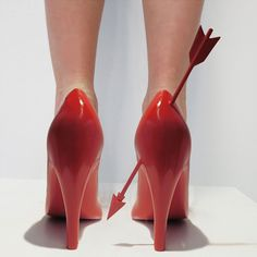 'Heart Breaker' by designer Sebastian Errazuriz.  The shape of each shoe represents how he remembers its counterpart: either by a nickname, a personal attribute or sexual behav...