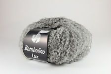 Lana Grossa Bombolino Lux Fb. 012 Hellgrau/Silber 50g