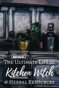 The Ultimate List of Kitchen Witch & Herbal Resources - The Witch of Lupine Hollow A massive roundup of web and print resources for kitchen witches and herbalists. Herbal Witch, Witch Herbs, Herbal Magic, Green Witchcraft, Wicca Witchcraft, Wiccan Witch, Hedge Witch, Kitchen Witchery, The Witcher