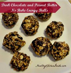 Dark Chocolate and Peanut Butter No Bake Energy Balls  a friend made these, tried these yesterday: delicious
