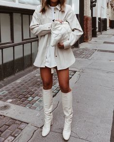 all white outfit Trendy Outfits, Cute Outfits, Fashion Outfits, Womens Fashion, Fashion Clothes, Fashion Killa, Look Fashion, Fall Winter Outfits, Autumn Winter Fashion