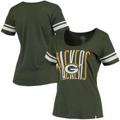 Green Bay Packers Brand Women s Halfback Scoop T-Shirt - Green fe43517e7