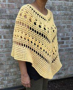 Crochet Patterns Blusas Multi Pattern Crochet Poncho Pattern, Crochet Poncho Pattern, Boho Poncho Pattern, Poncho Pattern, V - Black Crochet Dress, Crochet Blouse, Crochet Bodycon Dresses, Love Crochet, Crochet Shawl, Double Crochet, Single Crochet, Crochet Hooks, Crochet Top
