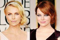 perfect side-chignons#Charlize wears a Cartier headband