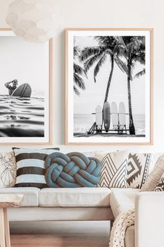 Lusting for the ocean? Bring beach vibes to your interior with coastal wall art ocean prints. Available as posters or framed prints online in Australia. Decoration Surf, Apartment Decoration, Surf Decor, Surf Style Decor, Surfboard Decor, Coastal Wall Art, Coastal Decor, Coastal Interior, Coastal Cottage