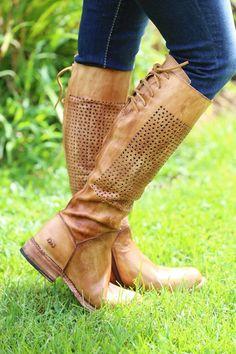 bed stu bridgewater women's boots tan driftwood brown perforated