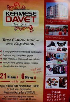 Hayır Çarşısı | 21-06 Mayıs 2014 Samsun Terme Güzelçay Yurdu Kermesi | http://hayircarsisi.com