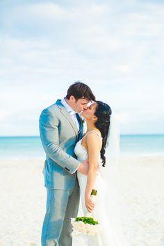 playa de carmen wedding, beach wedding, destination wedding, bouquet, orchids, roses, bride and groom,  Irish Grzanich Photography Blog — Irish Grzanich Photography