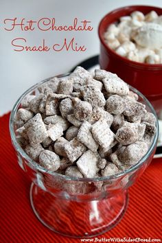 Hot Chocolate Snack Mix - There is hot chocolate mix in this recipe and the results are so yummy!  Butter With a Side of Bread