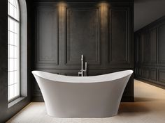 Sit back and relax in the Rio Grande. The Rio Grande is a perfectly balanced double slipper freestanding bathtub that brings tranquility to the room. Relax, Room, Interior, Bath, Free Standing Bath Tub, Slipper Bathtub, Interior Design, Bathrooms Remodel, Bathroom Design