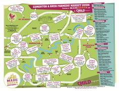 Made Urban - 2014 Edmonton & Area Farmer's Market Map Nashville Farmers Market, Farmers Market Recipes, Practice What You Preach, Magazines For Kids, The Way Home, Summer Fun, Summer 2014, Summer Time, Good To Know