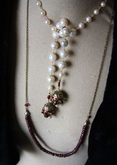 My fav look - pearls, rubies, vintage polki elements..sapphires, emeralds...yummy pls email with interest shelbilavender@gmailcom