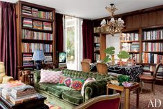 Velvet accents create a sensuous atmosphere in these enticing spaces from our archives