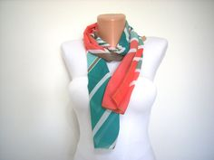 Women Scarf Chiffon Scarf  Cowl Scarf for Spring and by dinomacci, $8.90