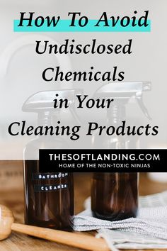 Cleaning supplies often contain undisclosed chemicals that've been shown to emit hundreds of air contaminants not listed on the label. Here's how to avoid them! Natural Cleaning Solutions, Natural Cleaning Recipes, Homemade Cleaning Products, Natural Cleaning Products, Bleach Alternative, Detox Your Home, Cleaning Hacks, Cleaning Supplies, Green Cleaning