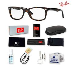 b0e916f363d Buy Ray-Ban Eyeglasses with Deluxe Eyewear Accessories Bundle