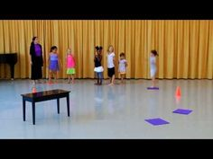 Musical Obstacle Course - Great for teaching K's directional words (Over, under, on, etc.)