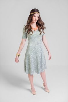 The dress has great potential and so does the necklace. Lose the headband for a proper finished look.