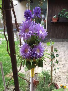 saténová kytica fialova Plants, Handmade, Hand Made, Plant, Planets, Handarbeit