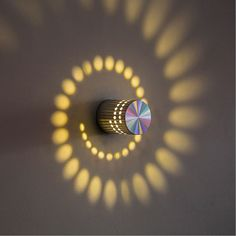 Spiral Wall Lamp Add that modern touch to your home. Ideal for bedrooms, hallways, living rooms. Made of aluminum, not plastic. lighting Spiral Effect Wall Lamp
