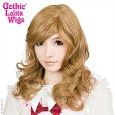 FRONT VIEW: Girly Girls in Light Brown Honey Milk Tea Mix are natural and versatile kawaii Korean & Japanese Classic Lolita, Ulzzang/Uljjang, and Hime Gyaru hair Style wigs. Get that Aegyo look! Big Hair, Wavy Hair, Gyaru Hair, Natural Wigs, Anime Wigs, Wig Party, Cosplay Wigs, Lolita Fashion, Gothic Lolita