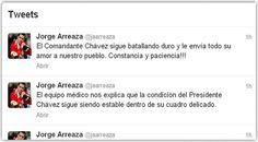 Presidente Chávez estable dentro de su cuadro delicado, ministro Arreaza