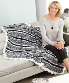 Cozy Striped Throw Crochet Pattern  #crochet