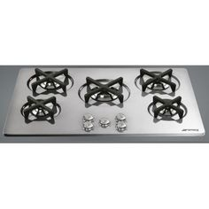 "P755X1 75cm \""Marc Newson\\"" Gas Hob, Stainless Steel with Silver details"
