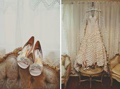Ruffled Wedding dress  tealephotography.net