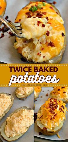 Easy Twice Baked Potatoes, Easy Baked Potato, Twice Baked Potatoes Casserole, Vegetable Dishes, Vegetable Recipes, Memorial Day Foods, Good Food, Yummy Food, Tasty