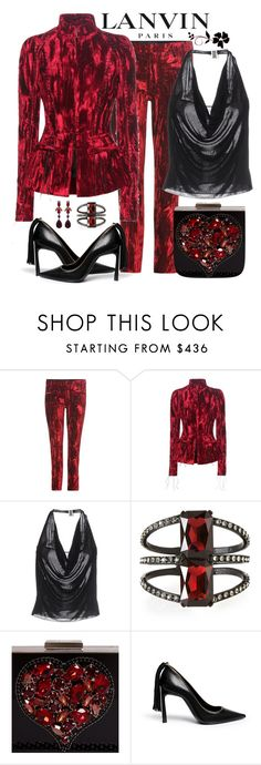 """Lanvin Accessories Evening Look"" by romaboots-1 ❤ liked on Polyvore featuring Lanvin, Haider Ackermann and Oscar de la Renta"