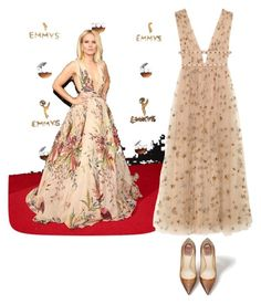 """""""emmys nude"""" by aries-indonesia ❤ liked on Polyvore featuring Valentino"""
