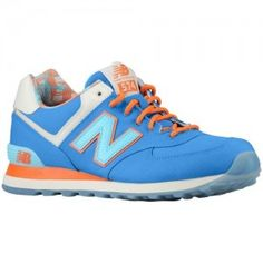 Best Sellers New Balance 574 Island Pack Trainers Mens Blue/Orange/Beige For Sale