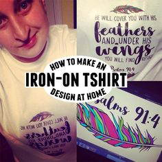 Iron on transfer size guide everything cricut for Create your own iron on transfer for t shirt