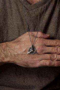 e927c36b2945 Spinning Propeller Necklace for Men – 3 Blade Propeller Pendant Necklace  Sterling Silver