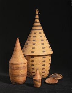 Tutsi Baskets and Trays from Rwanda and Burundi (woven grass)