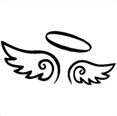 easy to draw angel wings halo - Google Search