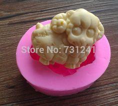 Conception 518 taille 7.0 * 5.6 * 3.0, 79 g moutons forme moule en silicone, Savon moule, Gâteau décoration outil, Matériau de qualité alimentaire(China (Mainland))