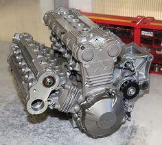 Giancarlo Morbidelli's latest masterpiece, a beautiful V-12 designed for motorcycle use.