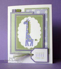 Birthday Giraffe using Stampin Up Wild about You retired stamp set.